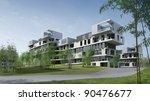 3d render building landscape | Shutterstock . vector #90476677