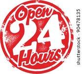 open 24 hours sign | Shutterstock .eps vector #90478135