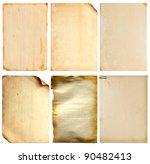 Set Of Old Vintage Paper  ...