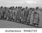 amboseli  kenya   oct 13  group ... | Shutterstock . vector #90482725