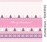 traditional christmas knitted... | Shutterstock .eps vector #90493933