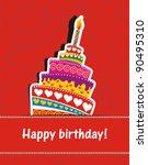 vector happy birthday card....   Shutterstock .eps vector #90495310