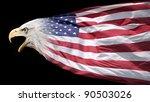 Patriotic Bald Eagle Blended...