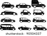 big cars collection   vector | Shutterstock .eps vector #90504337