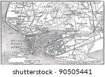 plan of le havre   an... | Shutterstock . vector #90505441