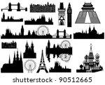 vector landmarks   london ... | Shutterstock .eps vector #90512665