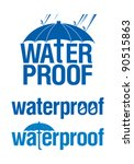 waterproof logo set. | Shutterstock .eps vector #90515863