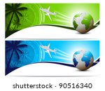 travel and holiday banners | Shutterstock .eps vector #90516340