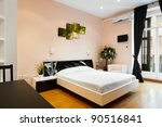 interior design  modern bedroom | Shutterstock . vector #90516841