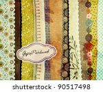 gypsy patchwork  hand painted... | Shutterstock .eps vector #90517498