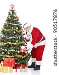 santa claus bringing gifts and... | Shutterstock . vector #90517876