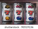 slot machine games with a... | Shutterstock . vector #90519136
