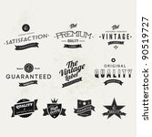 collection of typographic... | Shutterstock .eps vector #90519727