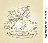 tea | Shutterstock .eps vector #90525361