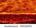 fire city  big fire  holocaust | Shutterstock . vector #90526993