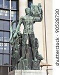 Sculpture of Apollo at Trocadero (Palais de Chaillot) in Paris - stock photo