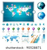 premium infographics master... | Shutterstock .eps vector #90528871