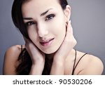 portrait of young stylish girl. | Shutterstock . vector #90530206