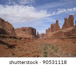 Rock structure in Arches National Park. Utah, USA - stock photo