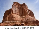 Huge rock in Arches National Park. Utah, USA - stock photo