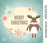 merry christmas card with... | Shutterstock .eps vector #90532576
