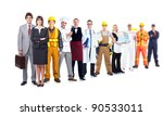 group of industrial workers.... | Shutterstock . vector #90533011