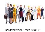 group of industrial workers.... | Shutterstock . vector #90533011