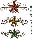 set of vector star scrolls | Shutterstock .eps vector #90535708