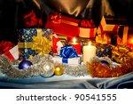 new year  christmas  still life ... | Shutterstock . vector #90541555