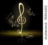 treble clef   Shutterstock . vector #90541651
