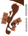chocolate abstract background.... | Shutterstock . vector #90542698