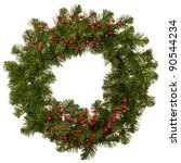 christmas festive wreath with... | Shutterstock . vector #90544234