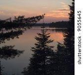 sunsett on lake Itasca in Northern Minnesota