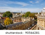 Cityscape Of Oxford. England ...