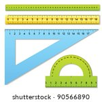 the three rulers and one... | Shutterstock .eps vector #90566890