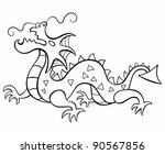 dragon  chinese new year 2012.... | Shutterstock .eps vector #90567856
