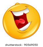 laughing out loud emoticon | Shutterstock .eps vector #90569050