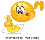 cute emoticon drawing a smiling ...   Shutterstock .eps vector #90569059