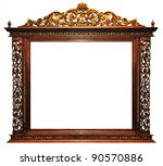 Wood frame vintage - stock photo
