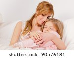 mother with her young daughter | Shutterstock . vector #90576181