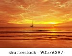 Sailing Boat On A Background O...