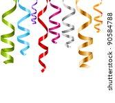 curling paper streamer set ... | Shutterstock .eps vector #90584788