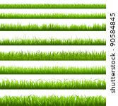 Green Grass Borderi  Vector...