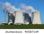 detail view of nuclear power... | Shutterstock . vector #90587149