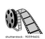 film strip and reel | Shutterstock . vector #90594601