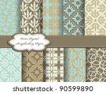 set of vector paper for... | Shutterstock .eps vector #90599890