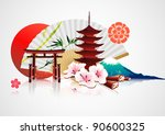 vector illustration of abstract ... | Shutterstock .eps vector #90600325