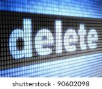 delete    full collection of... | Shutterstock . vector #90602098