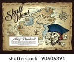 skull island treasure map | Shutterstock .eps vector #90606391