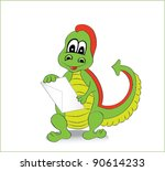 green  dragon   Shutterstock .eps vector #90614233
